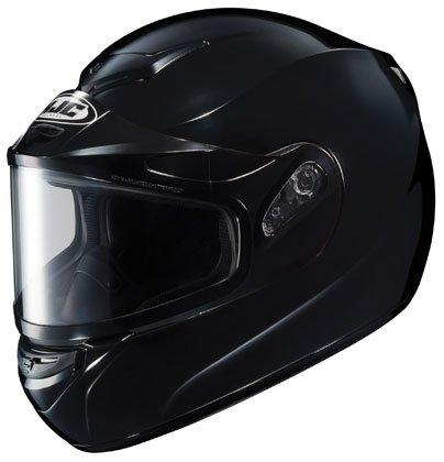 HJC CS-R2 Solid Full Face Snowmobile Helmet Black LG ()