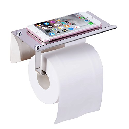 Wotwre Toilet Paper Holder Polished Chrome Paper Towel Holder