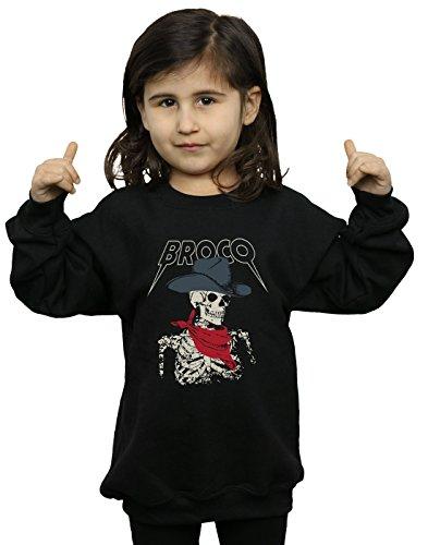 - Don Broco Girls Cowboy Skeleton Sweatshirt Black 7-8 Years