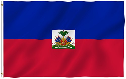 ANLEY [Fly Breeze] 3x5 Foot Haiti Flag - Vivid Color and UV Fade Resistant - Canvas Header and Double Stitched - Haitian National Flags Polyester with Brass Grommets 3 X 5 Ft