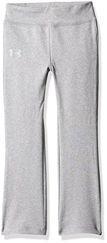 Under Armour Little Girls' Yoga Pant, True Grey Heather, 5 (Yoga Pants Under Armour)