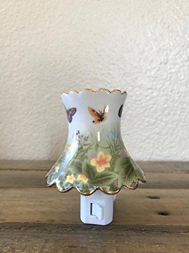 Flower Garden Night Light (Butterfly Garden Inspired Plug In Night Light)