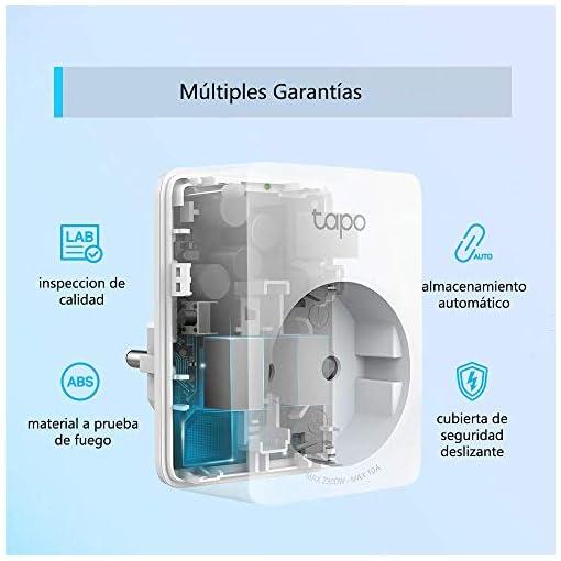 TP-Link Tapo P100 - WiFi Enchufe Inteligente Mini tamaño para Controlar su Dispositivo Desde Cualquier Lugar, sin Necesidad de Concentrador, Funciona con Amazon Alexa y Google Home, 1 Pack