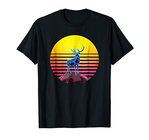Geometric Elk Moose Neon Retro 80s Vintage Outrun (Radically Retro Costumes)
