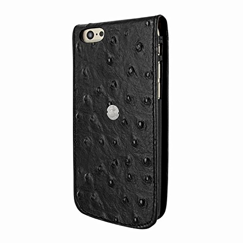 Piel Frama 689 Black Ostrich Magnetic Leather Case for Apple iPhone 6 Plus / 6S Plus by Piel Frama (Image #2)