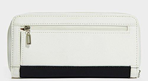 GUESS Women's Senuri Zip-Around Wallet Clutch Bag (Black Multi)