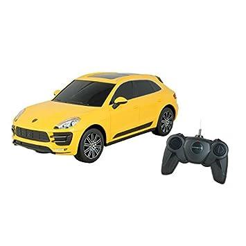 Coche RC Porsche Macan Turbo Amarillo Escala 1:24: Amazon.es: Juguetes y juegos