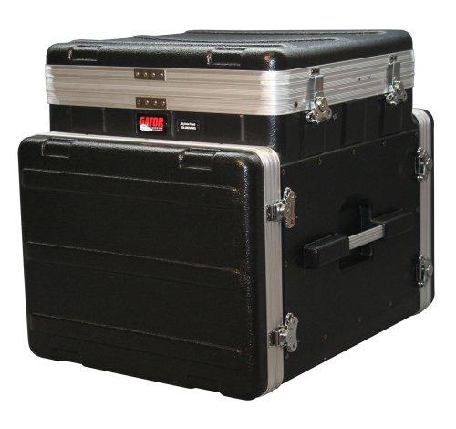 19' Rack Light - Gator Cases Lightweight ATA Molded Console Rack Case; 10U Pop-Up Top and 8U Side (GRC-10X8 PU)