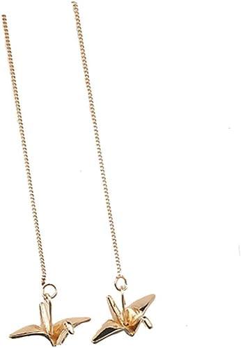 Cute Gold Silver Chain Origami Crane Pendant Necklace Paper Cranes Women Jewelry