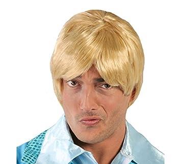Guirca Perruque Homme Blond Courte: Amazon.