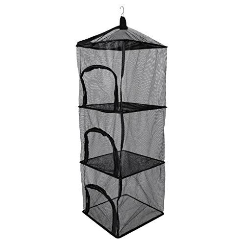 Dovewill Nylon 4 Layer Dry Net Collapsible Mesh Drying Rack