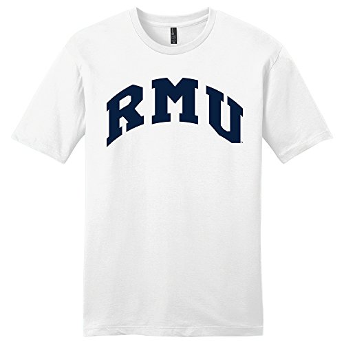 Campus Merchandise NCAA Robert Morris Colonials Robert University Arch Soft Style T-Shirt, Large, White