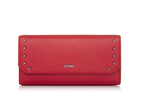 bonia-womans-red-exquisite-chequebook-wallet-one-size