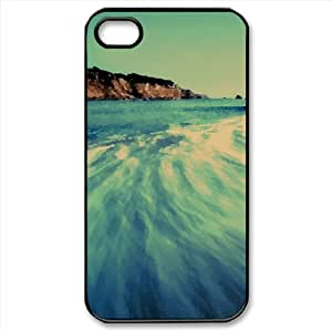 Sea Wave, Long Exposure Watercolor style Cover iPhone 4 and 4S Case (Beach Watercolor style Cover iPhone 4 and 4S Case)
