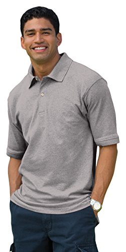 Whispering Pines Sportwear 7001 Mens Mainsail Mesh-Pique Polo Shirt, Foxy Grey, 6Xl
