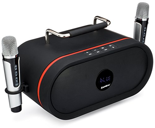 SoundBeast Minotaur All-In-One Karaoke, Music, & Portable PA Bluetooth Speaker System with 2 Wireless Microphones by SoundBeast