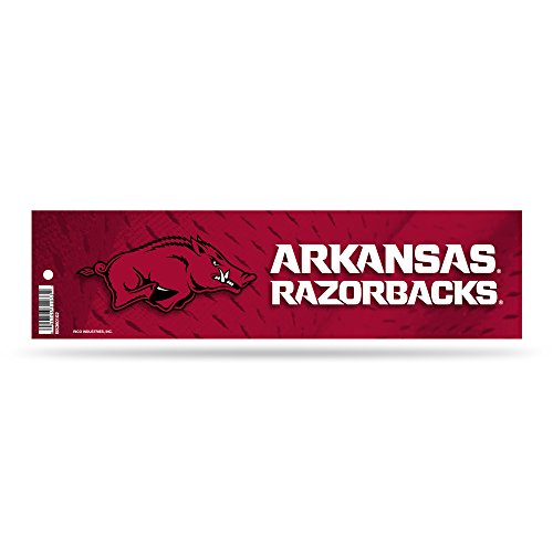 Rico Arkansas Razorbacks Official NCAA 3 inch x 12 inch Bumper Sticker by 243630 by Rico