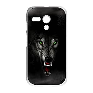 Durable Material Phone Case With Wolf Image On The Back For Motorola Moto G