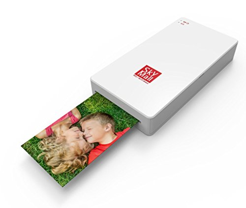 SkyMall Mobile Wi-Fi & NFC Photo Printer with Dye Sublimation Printing Technology & Photo Preservation Overcoat Layer - Stores Skymall