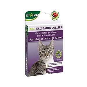 BSI Biopet - Collar ecológico sin insecticida para gatos, 38 cm