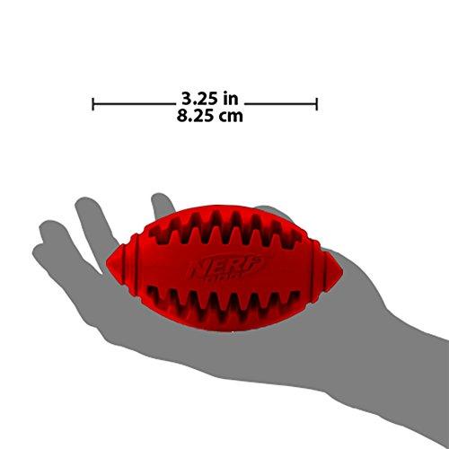 Nerf Dog Teether Rubber Treat Feeder Football Dog Toy, 3 25