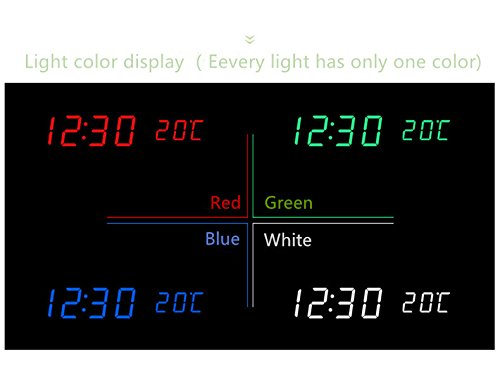 Amazon.com: RayLineDo Latest Design Fashion USB/AAA Black Wood White LED Light Wooden Digital Alarm Clock -Time Temperature Date Display - Voice and Touch ...