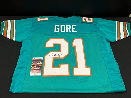Frank Gore Miami Dolphins Autographed Signed Autograph Custom Throwback Jersey JSA Authentic Certificate Wpp188536 Hof? ()