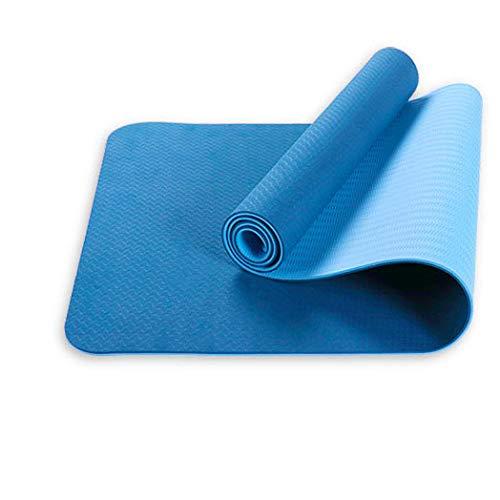 LIZIWEI Home Yogamatte 6mm zweifarbige Fitnessmatte Umweltschutzmatte