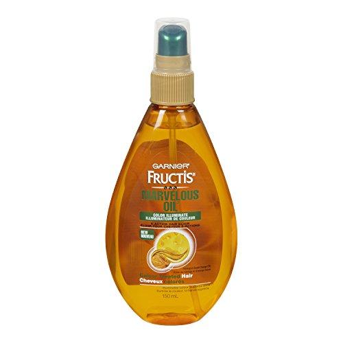 Garnier Skin and Hair Care Fructis Marvelous Oil Color Illuminate 5 Action Hair Elixir for Color Treated Hair, 5 Fluid -