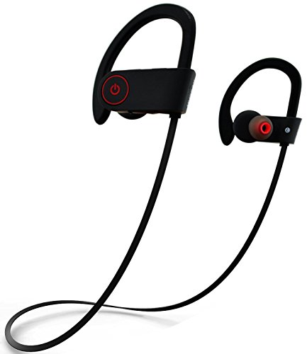 Wireless Bluetooth Headphones, Sport Earbuds HD Stereo Bass Sweatproof Headsets with Mic Running Headphones Gym Workout for iphone - Black