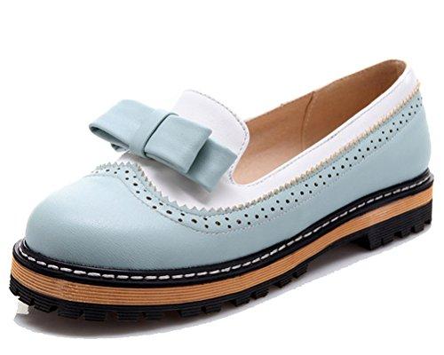 36 Bleu 5 Chaussures HiTime Bleu Femme à Lacets qxRwg6