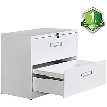 Amazon.com : Locking File Cabinet 2 Drawer Lateral Filing ...