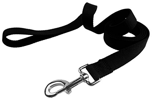 Organic Bamboo Dog Leash - Happy's 4 Foot Eco-Friendly Pet Leash 5/8 Inch Width (Extra Small Black)