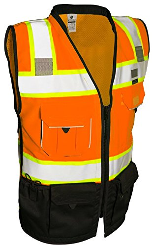 ML Kishigo S5003-M Premium Black Series Surveyors Vest Orange Medium by ML Kishigo (Image #3)