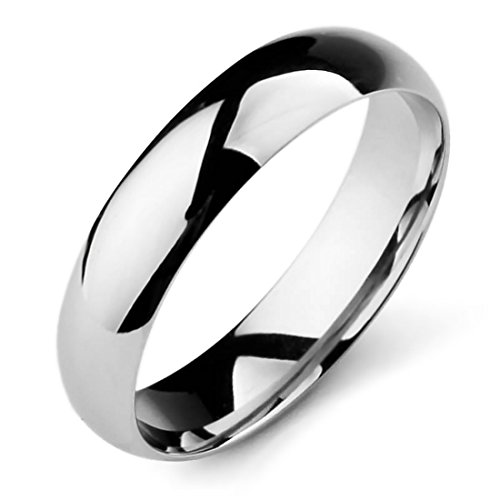 Man Of Steel Costumes For Sale (INBLUE Men,Women's Wide 5mm Stainless Steel Band Ring Silver Tone Wedding Size8)
