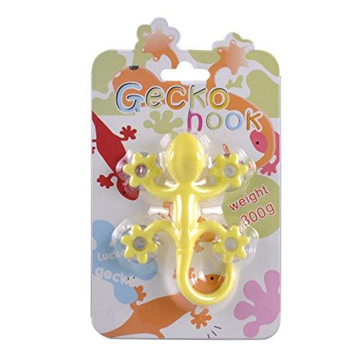 eZAKKA Multicolor Big Gecko Power Lock Suction Cup Hooks For Bathroom Kitchen Pack of 2 Photo #5
