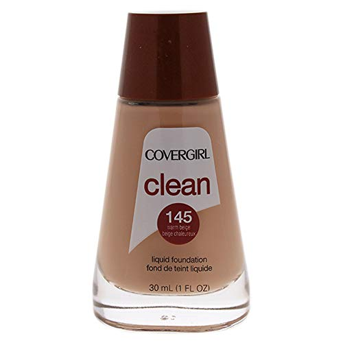 - COVERGIRL Clean Makeup Foundation Warm Beige 145, 1 oz (packaging may vary)
