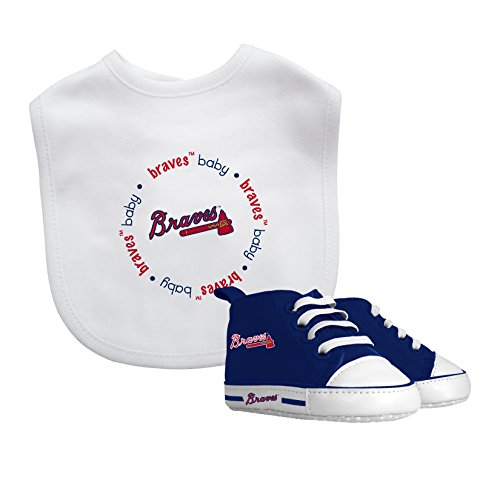 Baby Fanatic Bib with Pre-walker, Atlanta Braves -