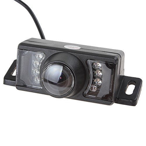 Cheap Night Vision Waterproof Car Rear View Camera High Definition Color Wide Viewing Angle Universal Car Rear View License Plate Backup Camera with 7 Infrared Night Vision LED for Car DVD Player