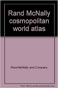 Rand Mcnally Cosmopolitan World Atlas Centennial Edition 1856 1956