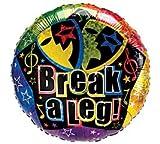 """Break a Leg!"" 18"" Mylar Balloon Drama Plays Congratulations Party Balloon!"