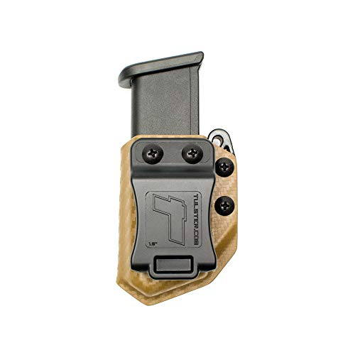 Pouch Double Stack - Tulster Universal 9mm/.40 Double Stack Mag Carrier Echo Carrier IWB/OWB (Coyote Brown Carbon Fiber)