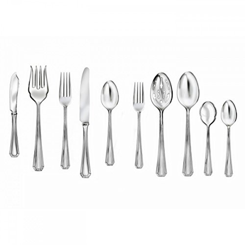 Monique Lhuillier Waterford Melrose 45-Piece Flatware Set