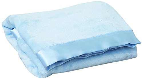 Satin Trim Microfleece Baby Blanket - Terry Town KP1706-BB Blue-1 Satin Trim Tahoe Microfleece Baby Blanket, Bb