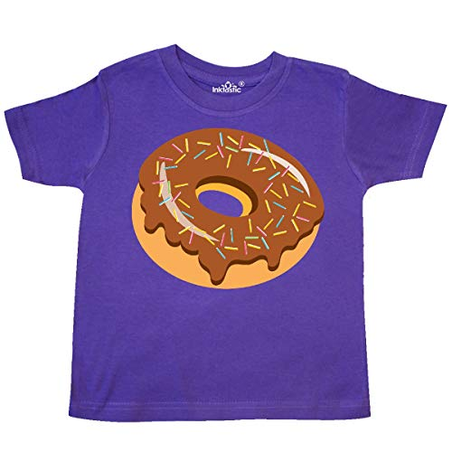 inktastic - Chocolate Donut with Sprinkles Toddler T-Shirt 4T Purple 3500d