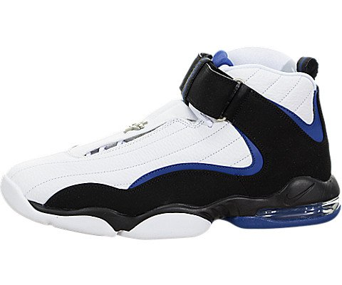 e153f52567b3 Galleon - Nike Mens Air Penny IV White Black Atlantic Blue Basketball Shoe  12 Men US
