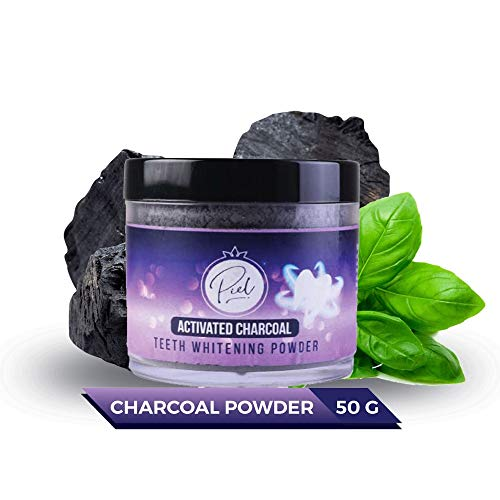 Piel Activated Charcoal Teeth Whitening Powder 50gm | Removes Tooth Stains and Bad Breath