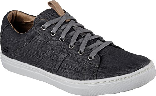 Skechers Alven - Manto Men Sneakers In Tela Tinta Unita Nere