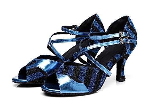 alla alla Sera ZHRUI ZHRUI Caviglia Scarpe UK Donna Ballo 2 Latine per Viola da Colore da con Dimensione Cinturino Blu Ballerine wE0ErqAcn