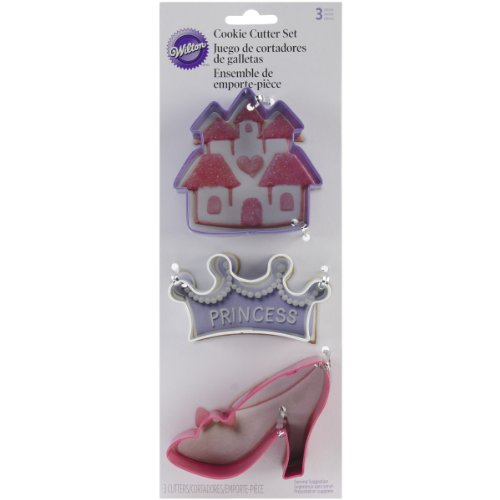 Wilton Princess Cookie Cutter Set, 3-Piece]()